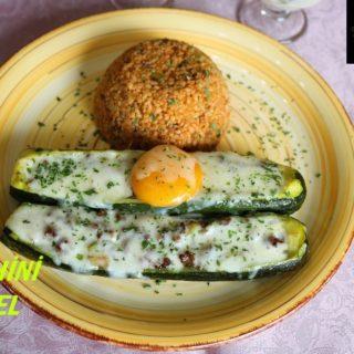 Zucchini Gondel mit Ei
