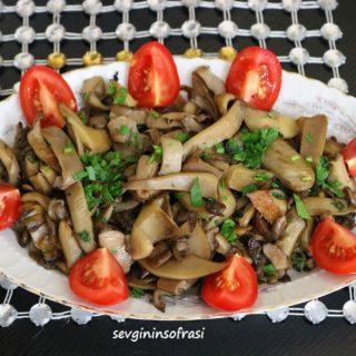 Geschmorte Austern Pilz als Beilage