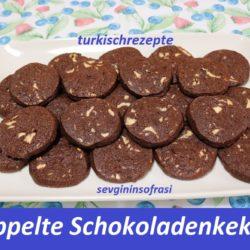 Doppelte Schokoladenkekse